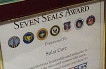 seven seals award awarded to solarcure